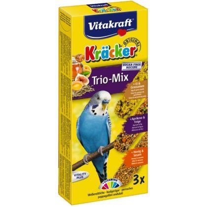 Vitakraft baton perusi trio mix ou/caise/miere 3 buc