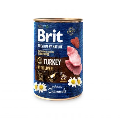 Hrana Umeda pentru Caini, Brit Premium By Nature Curcan si Ficat, 400 g