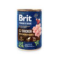 Hrana Umeda pentru Caini, Brit Premium By Nature cu Pui si Inimi de pui, 400 g