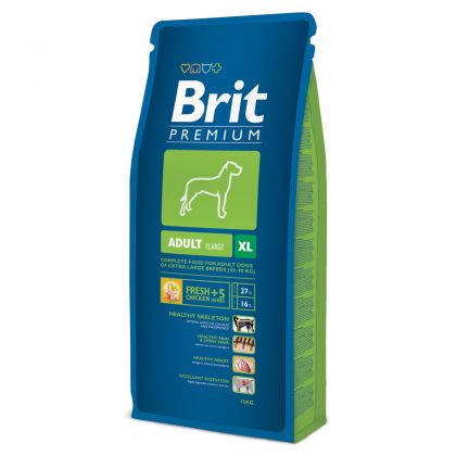 Hrana uscata pentru caini Brit Premium Adult XL, 15 Kg