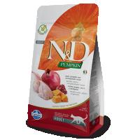 Hrana uscata pentru pisici, N&D Cat cu Prepelita, Dovleac si Rodie, 1.5 kg