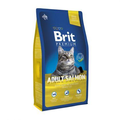 Hrana uscata pentru pisici Brit Premium Cat Adult cu Somon, 8 Kg