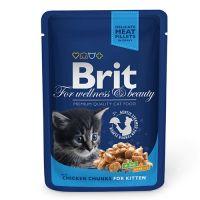 Hrana umeda pentru pisici Brit Premium Cat Junior, Plic cu carne de Pui, 100g