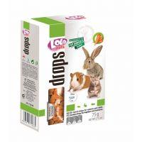 Dropsuri Lolo Pets cu morcovi pentru rozatoare, 75 g