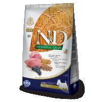 Hrana uscata pentru caini, N&D Low Grain Adult Mini cu Miel si Afine, 2.5 Kg