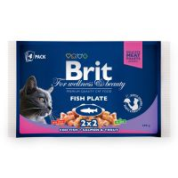 Hrana umeda pentru Pisici Brit Premium Cat Multipack felii de peste, 4 Plicuri x 100g