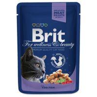 Hrana umeda pentru pisici Brit Premium Cat plic cu carne de cod, 100g