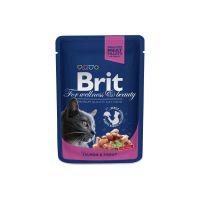 Hrana umeda pentru pisici Brit Premium Cat plic cu Somon si Pastrav, 100g