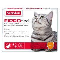 Beaphar pipeta antiparazitara pisica fiprotec, 3 buc
