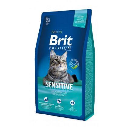 Hrana uscata pentru pisici Brit Premium Cat Sensitive cu Miel, 8 kg