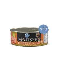 10 x Matisse Mousse cu Pui, 85 g
