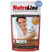 10 x Plic Nutraline Sterilised, 100 g