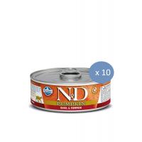 10 x Conserva N&D Cat cu Prepelita si Dovleac, 80 g