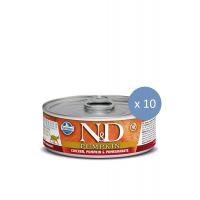 10 x Conserva N&D Cat cu Pui, Dovleac si Rodie, 80 g