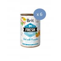 6 x Conserva Brit Fresh cu Peste si Dovleac, 400 g