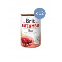 12 x Conserva Brit Pate & Meat cu Vita, 400 g