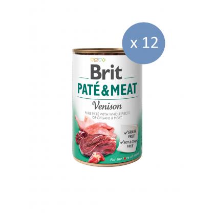 12 x Conserva Brit Pate & Meat cu Vanat, 400 g