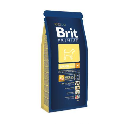 Hrana uscata pentru caini Brit Premium Junior M, 15 Kg