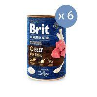 6 x Brit Premium By Nature cu Vita si Burta de Vita, 400 g