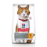 Hrana uscata pentru pisici Hill's SP Feline Young Adult Sterilised Cat cu Pui, 3 Kg