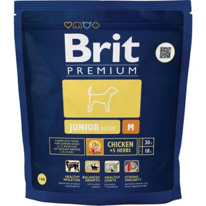Hrana uscata pentru caini Brit Premium Junior M, 1 Kg