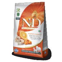 N&D Grain Free Adult Medium si Maxi, Cod, Dovleac si Portocale, 2.5 Kg