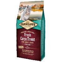 Hrana uscata pentru pisici Carnilove Fresh Cat Sterilised cu Pastrav si Crap, 2 Kg
