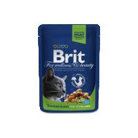Hrana umeda pentru pisici Brit Premium Sterilised Cat plic cu Pui, 100g