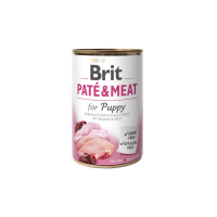 Hrana umeda pentru caini, Brit Pate & Meat Puppy, 800 g