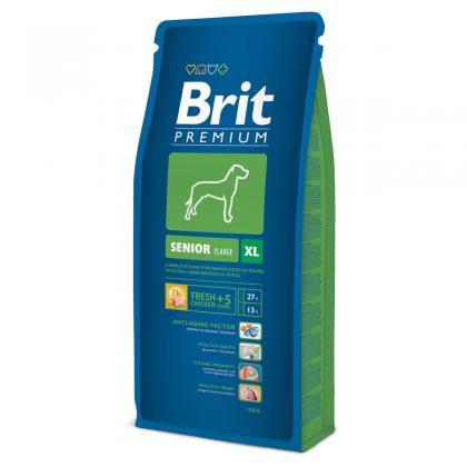 Hrana uscata pentru caini Brit Premium Senior XL, 15 Kg