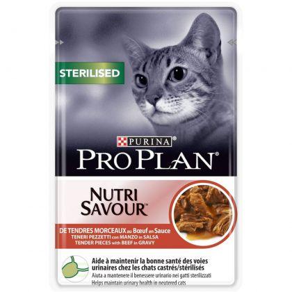 Hrana umeda pentru pisici, Pro Plan Sterilised Nutrisavour cu Vita, 85 g