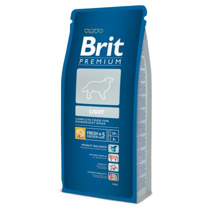 Hrana uscata pentru caini Brit Premium Light, 15 Kg