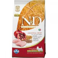 N&D Low Grain Adult Mini Pui si Rodie, 2.5 Kg