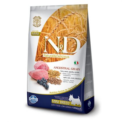 N&D Low Grain Puppy Mini, Miel si Afine, 2.5 Kg