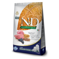 N&D Low Grain Puppy Medium and Maxi, Miel si Afine, 7.5 kg