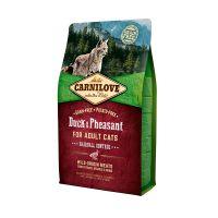 Hrana uscata pentru pisici Carnilove Cat Hairball Control cu Rata si Fazan, 2 kg