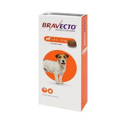 Tableta antiparazitara pentru Caini, Bravecto (4,5-10 kg) 1 tableta x 250 mg