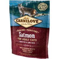 Carnilove Cat Sensitive & Long Hair cu Somon, 400 g