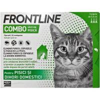 Pipete Antiparazitare pentru Pisici, Frontline Combo Spot-On Cat x 3 pipete