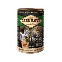 Hrana umeda pentru caini Carnilove Wild Meat cu Rata si Fazan, 400g