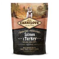 Hrana uscata pentru caini Carnilove Large Breed Puppy cu Somon si Curcan, 1.5 Kg