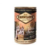 Hrana umeda pentru caini Carnilove Wild Meat Puppy cu Somon si Curcan, 400g