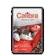 Hrana umeda pentru pisici adulte Calibra Cat Pui si Vita in Sos, 100 g