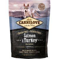 Hrana uscata pentru caini Carnilove Puppy cu Somon si Curcan, 1.5 Kg