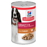 Hrana umeda pentru caini Hill's SP Canine Adult cu Curcan, 370g