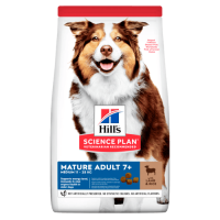 Hill`s SP Canine Mature 7 + Medium cu Miel si Orez, 14 kg