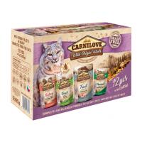 Hrana umeda pentru pisici, Carnilove Cat Pouch Multipack, 12 x 85 g