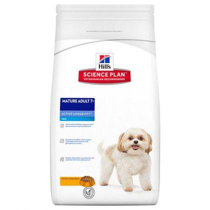 Hrana uscata pentru caini Hill's SP Canine Adult 7+ Active Longevity Mini cu Pui, 7.5 Kg