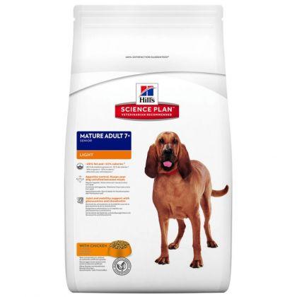 Hrana uscata pentru caini Hill's SP Canine Mature Adult 7+ Light cu Pui, 12 Kg