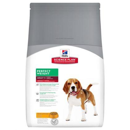 Hrana uscata pentru caini Hill's SP Canine Perfect Weight Adult Medium, 10 Kg
